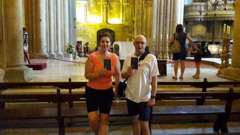 20170727 113048 Lisszabon Sé katedrális a credencialunkkal