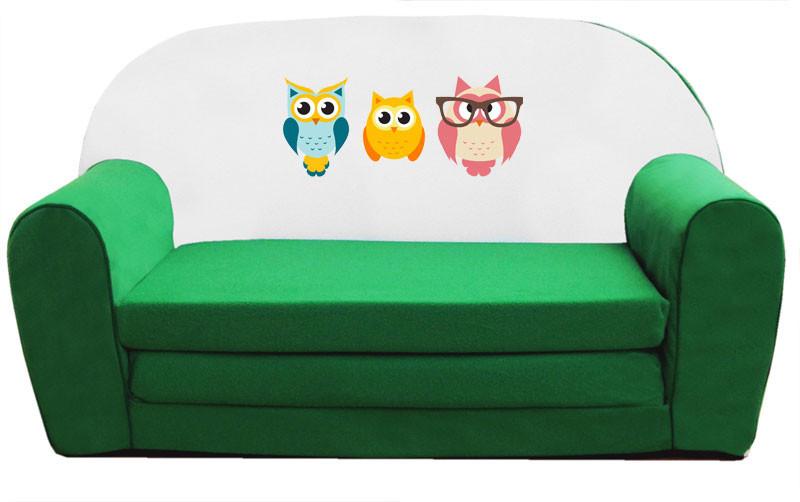 Zöld 3 bagoly szivacs kanapé