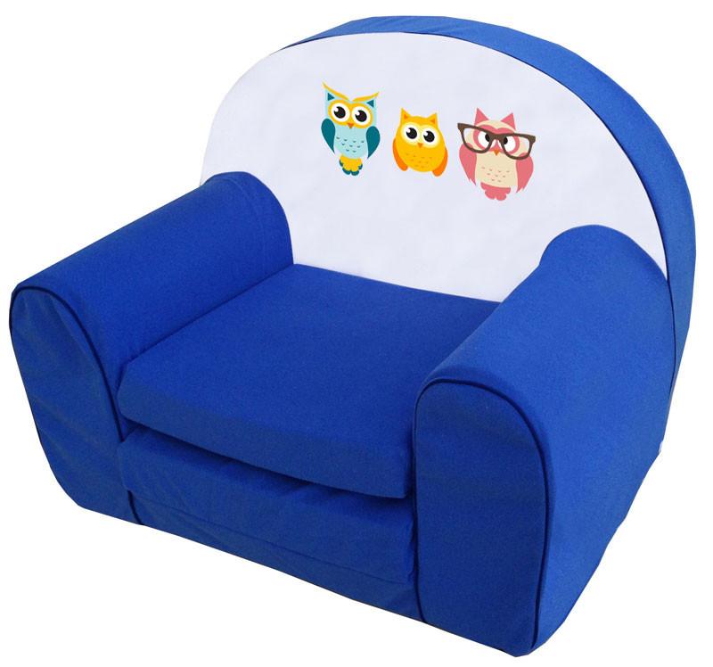 Kék 3 bagoly szivacs fotel