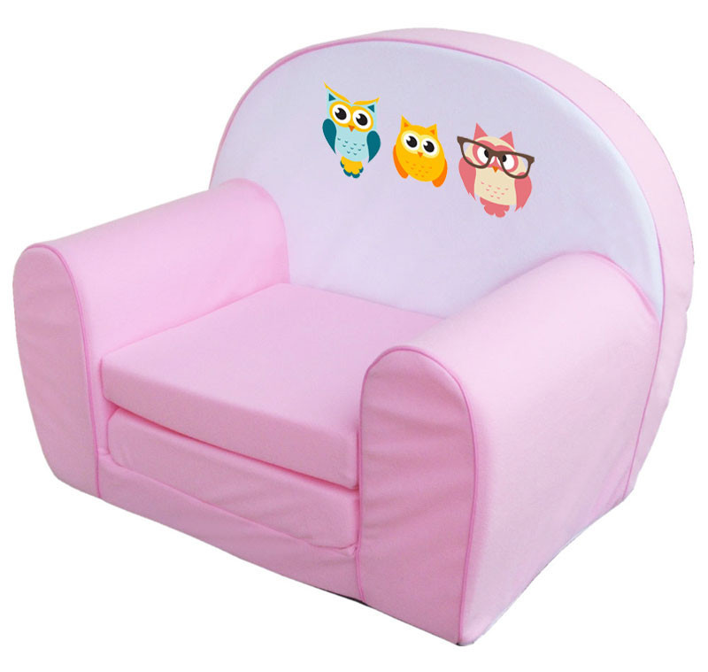 Pink 3 bagoly szivacs fotel