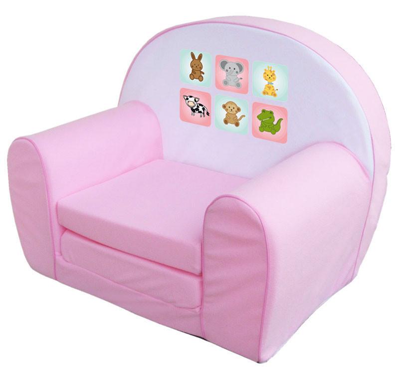 Pink állatkás szivacs fotel