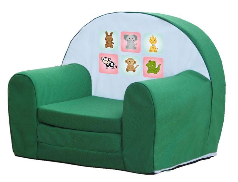 Zöld állatkás szivacs fotel