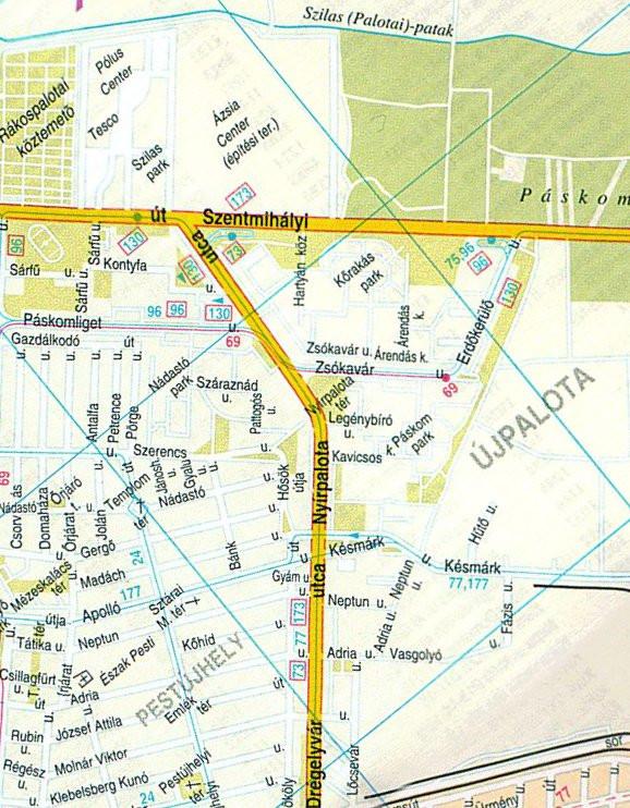 Újpalota térkép