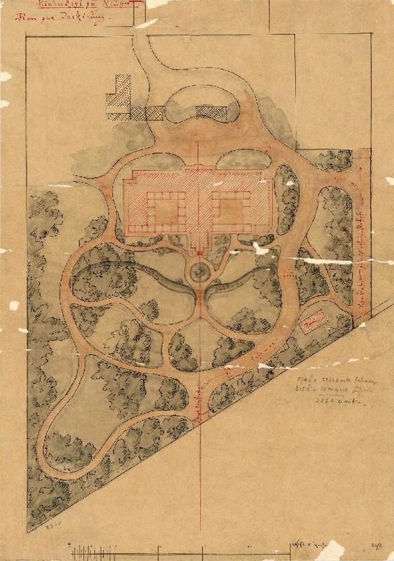 A Clarisseum kertjének terve