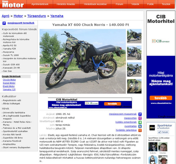 Blackhawk: Chuck Norris motorja