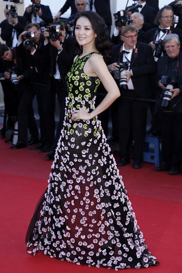 The Strange: cannes-zhang-ziyi-dior-couture
