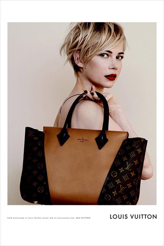 The Strange: Michelle-Williams-Peter-Lindbergh-Louis-Vuitton-Handbags-01