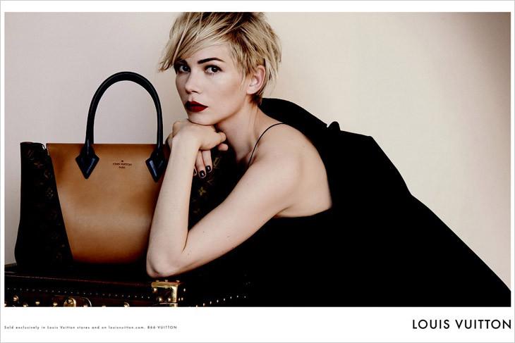 The Strange: Michelle-Williams-Peter-Lindbergh-Louis-Vuitton-Handbags-02