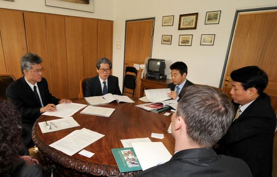 Országos Széchényi Könyvtár: Dél-koreai delegáció látogatása