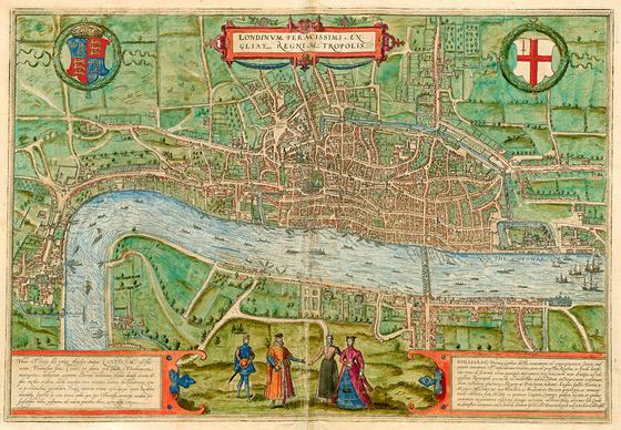 Országos Széchényi Könyvtár: London (Londinum) a XVI–XVII. század fordulóján