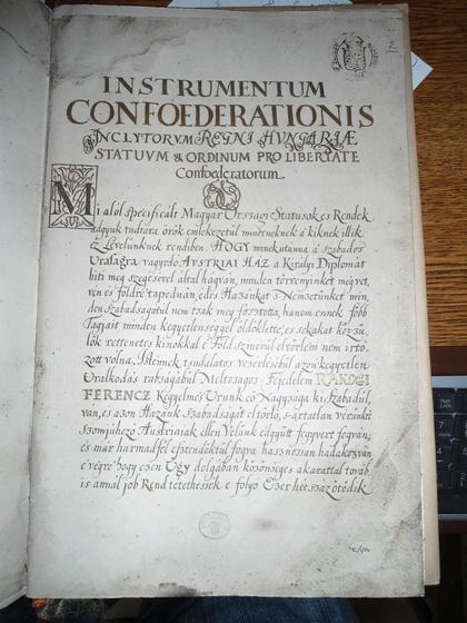 Országos Széchényi Könyvtár: A levél első oldala