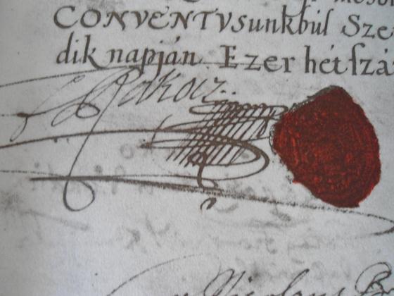 Országos Széchényi Könyvtár: II. Rákóczi Ferenc aláírása