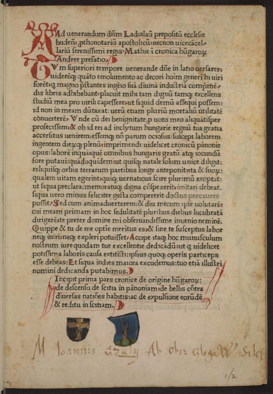 Országos Széchényi Könyvtár: Budai Krónika - Princeton
