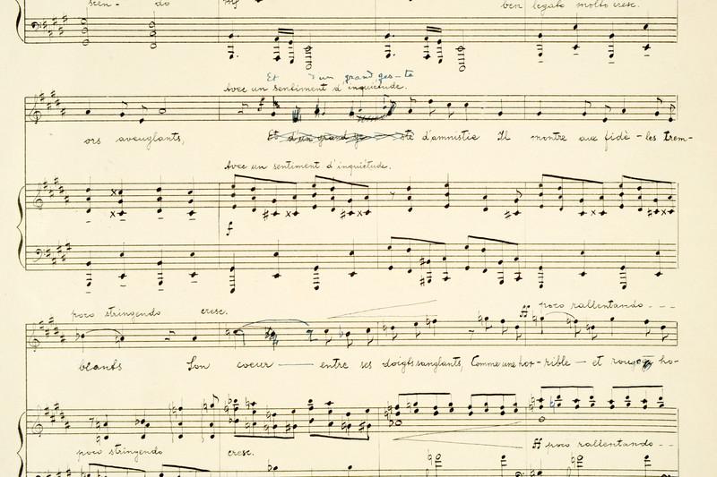 A Pierrot lunaire szerzői kézirata
