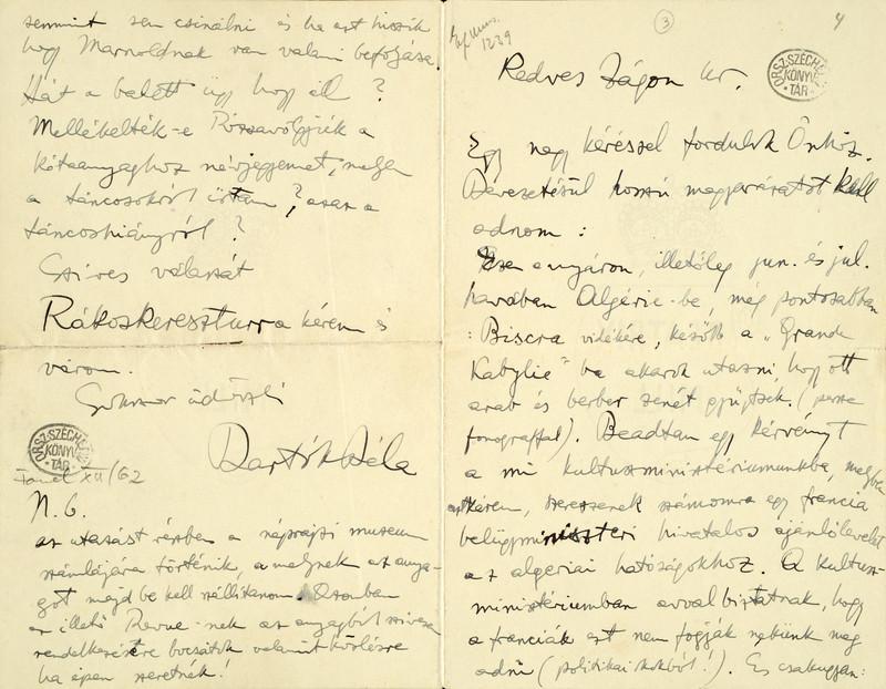 Bartók levele Zágonhoz [1913. április]