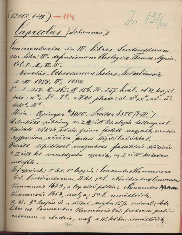 Winkler Pál kalocsai könyvtáros cédulája 1910-ből