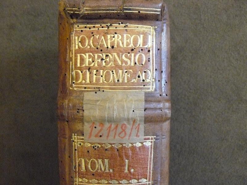 Capreolus első kötetének régebbi raktári jelzete
