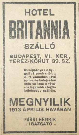 fovarosi.blog.hu: BekeSzallo-Britannia-1913Februar-AzEstHirdetes