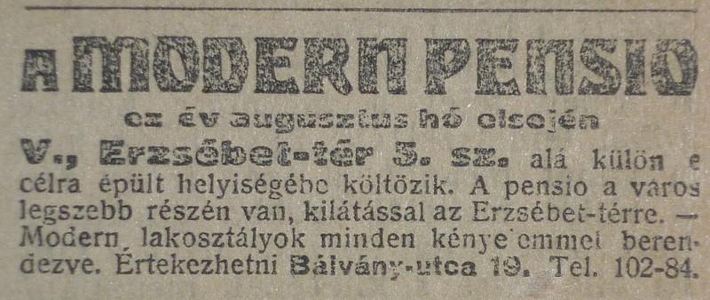 fovarosi.blog.hu: ErzsebetTer3-1913Julius-AzEstHirdetes