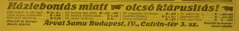 fovarosi.blog.hu: KalvinTer3-1913Junius-AzEstHirdetes