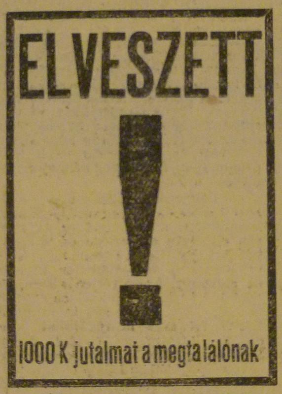 fovarosi.blog.hu: KekEger-1913November-AzEstHirdetes-01