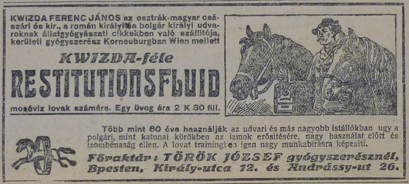 fovarosi.blog.hu: Lomosoviz-1913Julius-AzEstHirdetes