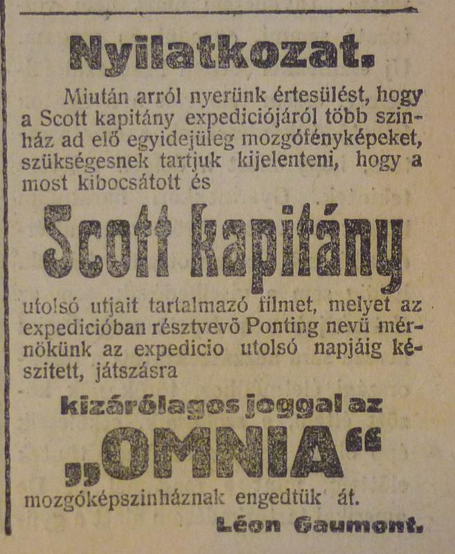 fovarosi.blog.hu: OmniaMozi-1913Marcius-AzEstHirdetes