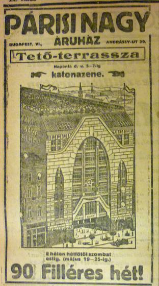 fovarosi.blog.hu: ParisiNagyaruhaz-1913Majus-AzEstHirdetes