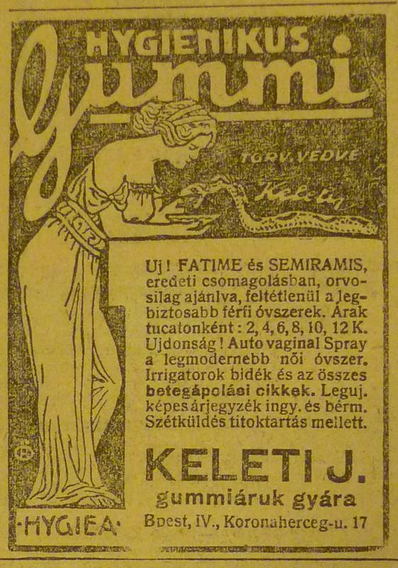 fovarosi.blog.hu: PetofiSandorUtca17-KeletiGummiaruk-1913Junius-AzEstHirdetes