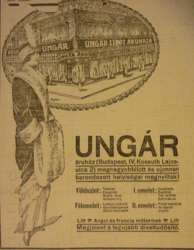 fovarosi.blog.hu: UngarAruhaz-1913December-AzEstHirdetes