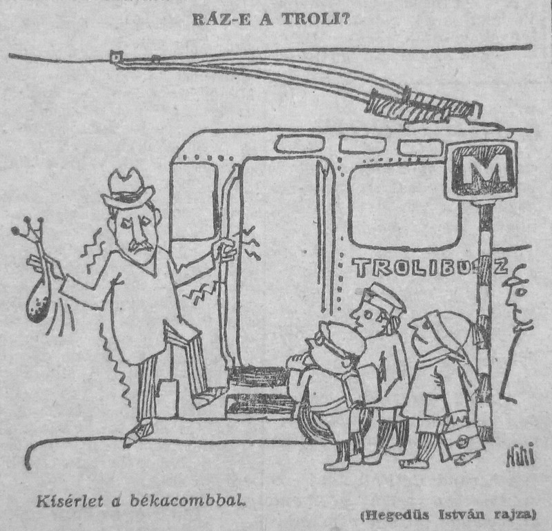 fovarosi.blog.hu: Trolibusz-196401-MagyarNemzetKarikatura - indafoto.hu