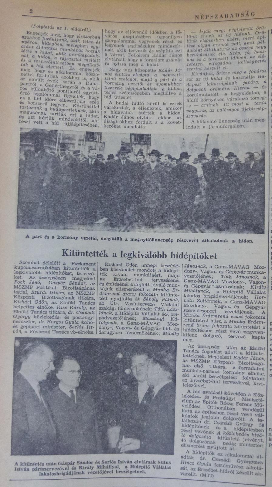 fovarosi.blog.hu: ErzsebetHid-19641122-Nepszabadsag-02 - indafoto.hu