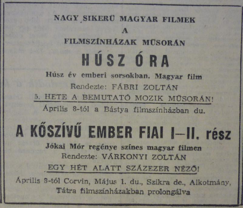 fovarosi.blog.hu: 196504-CorvinMozi-MagyarNemzetHirdetes - indafoto.hu