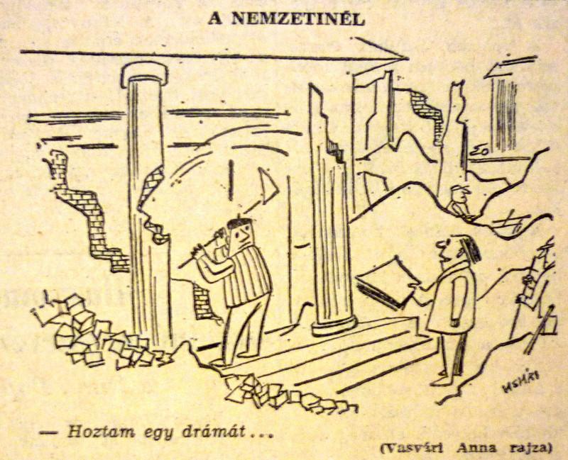 fovarosi.blog.hu: NemzetiSzinhaz-196503-MagyarNemzetKarikatura - indafoto.hu