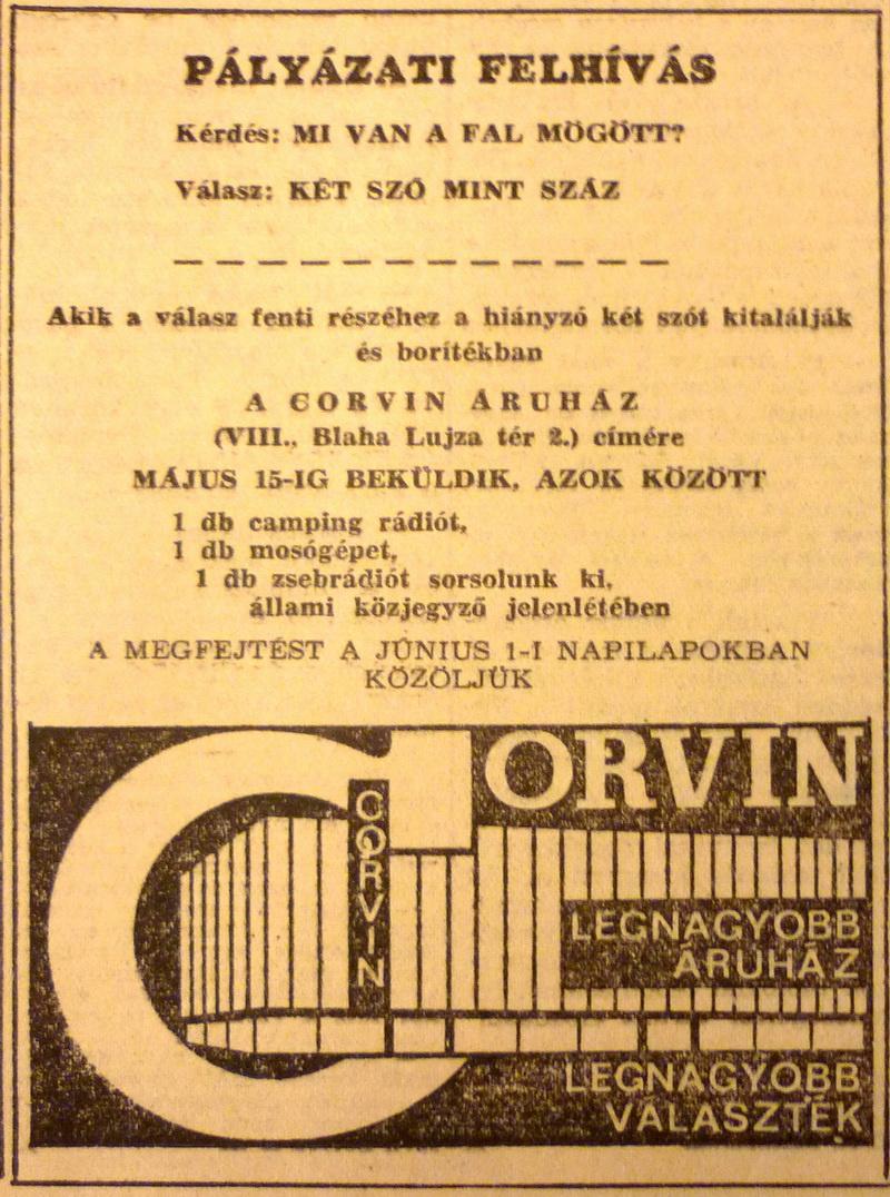 fovarosi.blog.hu: CorvinAruhaz-196704-Hirdetes - indafoto.hu