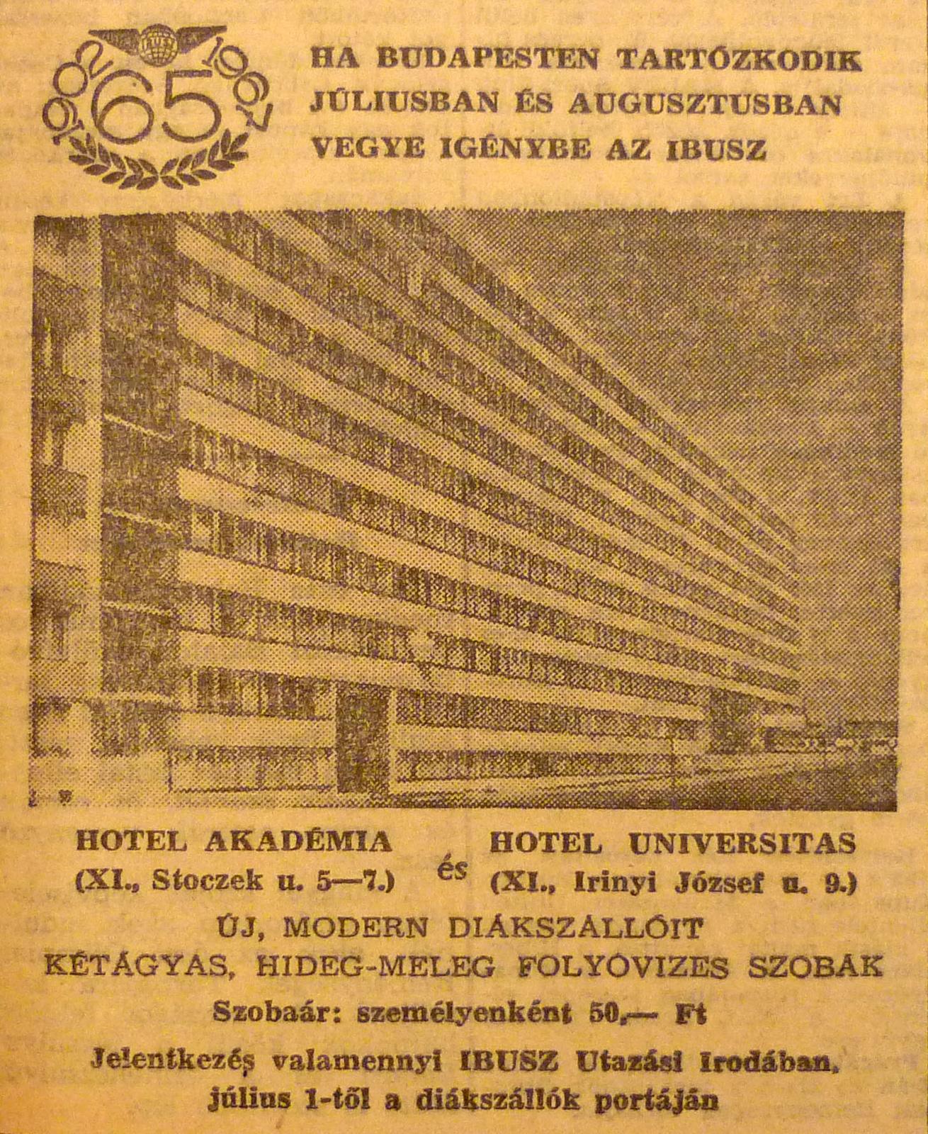 fovarosi.blog.hu: Muegyetem-196707-MagyarNemzetHirdetes - indafoto.hu