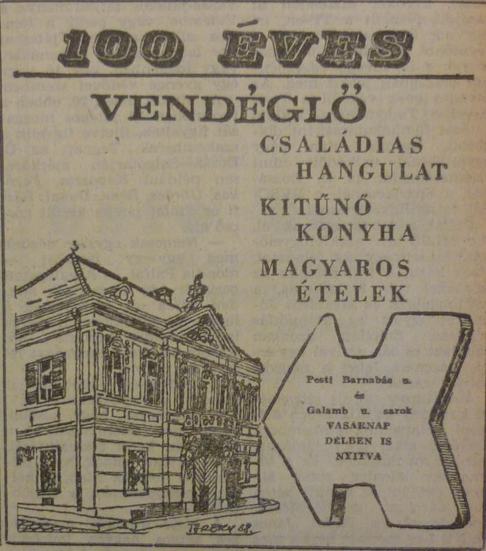 fovarosi.blog.hu: SzazevesVendeglo-196803-MagyarNemzetHirdetes - indafoto.hu