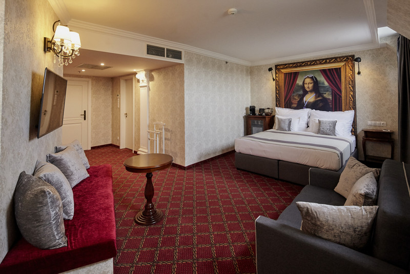 Corinthian Studio Suite szoba. Fotó: Mystery Hotel Budapest