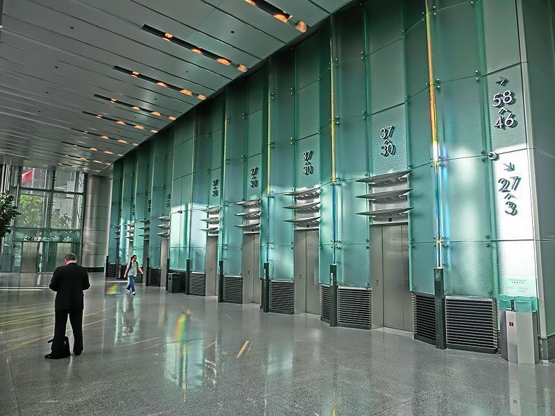 Bank lobby Cheung Kong Centre Sept-2013 Garden Road lift lobby i