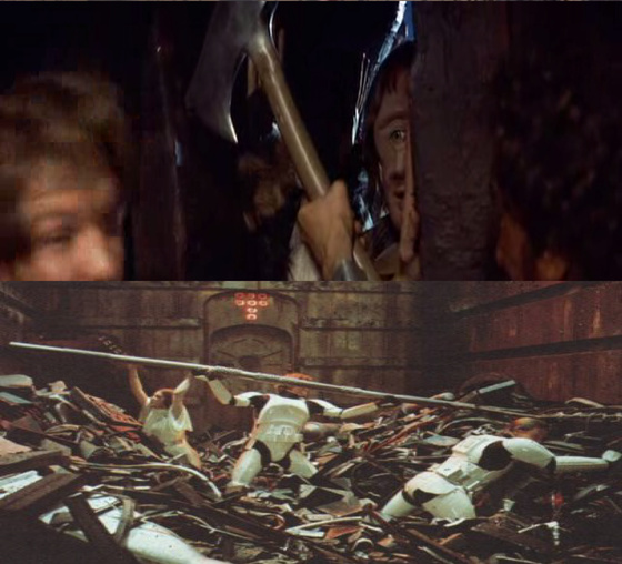 A küklopsz halála (Krull) vs a hulladékzúzó (Star Wars)