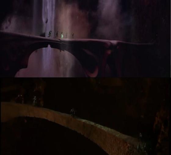 Khazad Dum hídja (Gyűrűk Ura) vs a vándorló palota hídja (Krull)