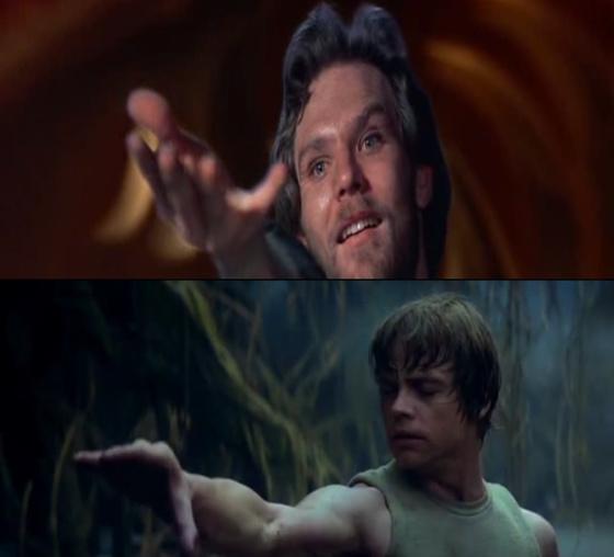 Colwyn (Krull) és Luke (Star Wars) használják az Erőt