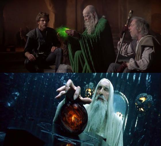 Jóslás zöld izével (Krull) vs a Palantír (Gyűrűk Ura)