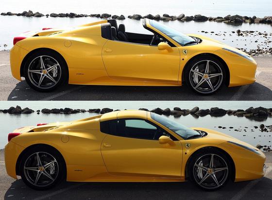Ferrariszubjektiv.blog.hu ferrari 458-spider nyitott, zart
