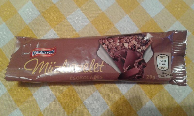 knusperone csokis müzliszelet