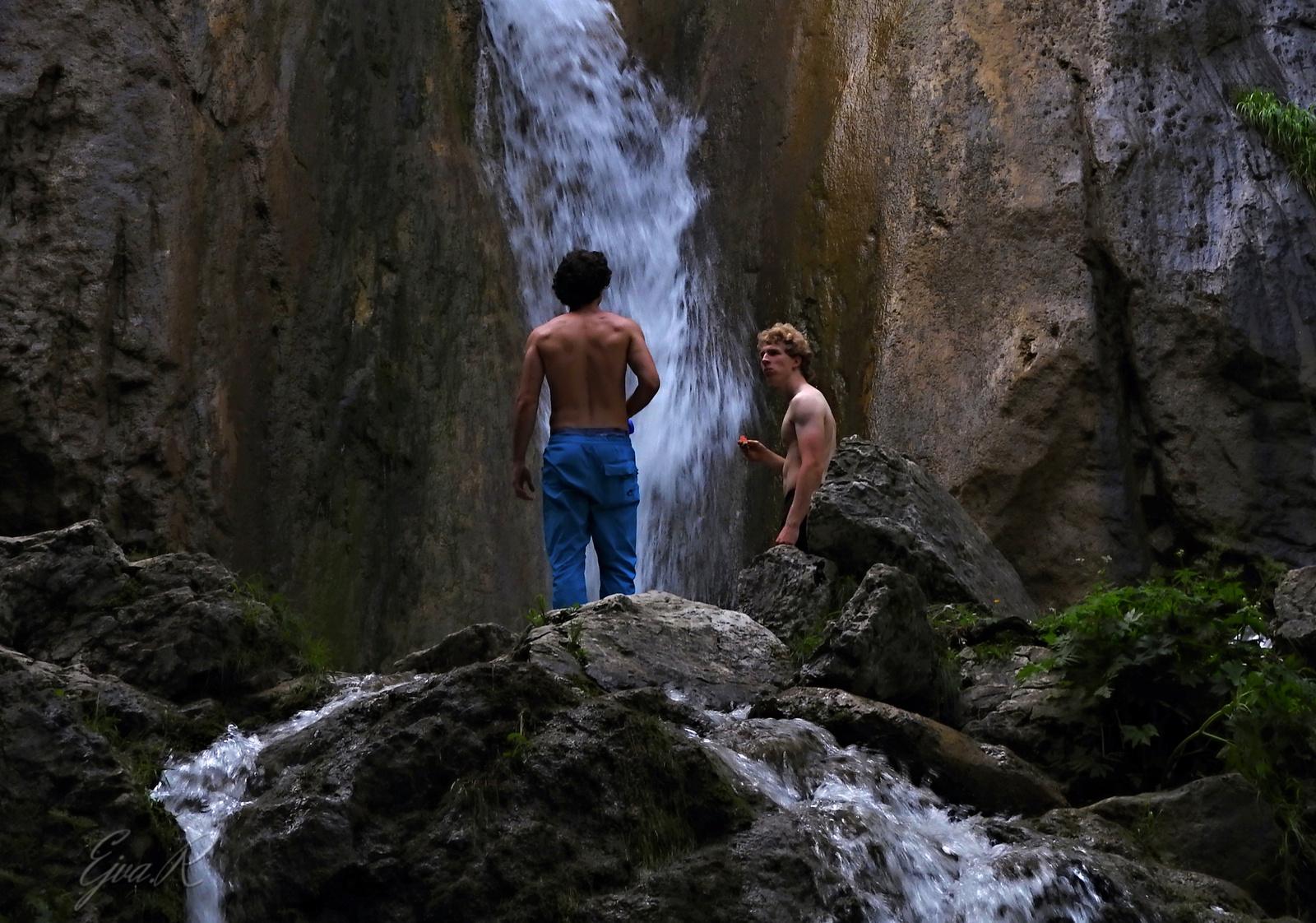 Szabad hegymászók szünetben