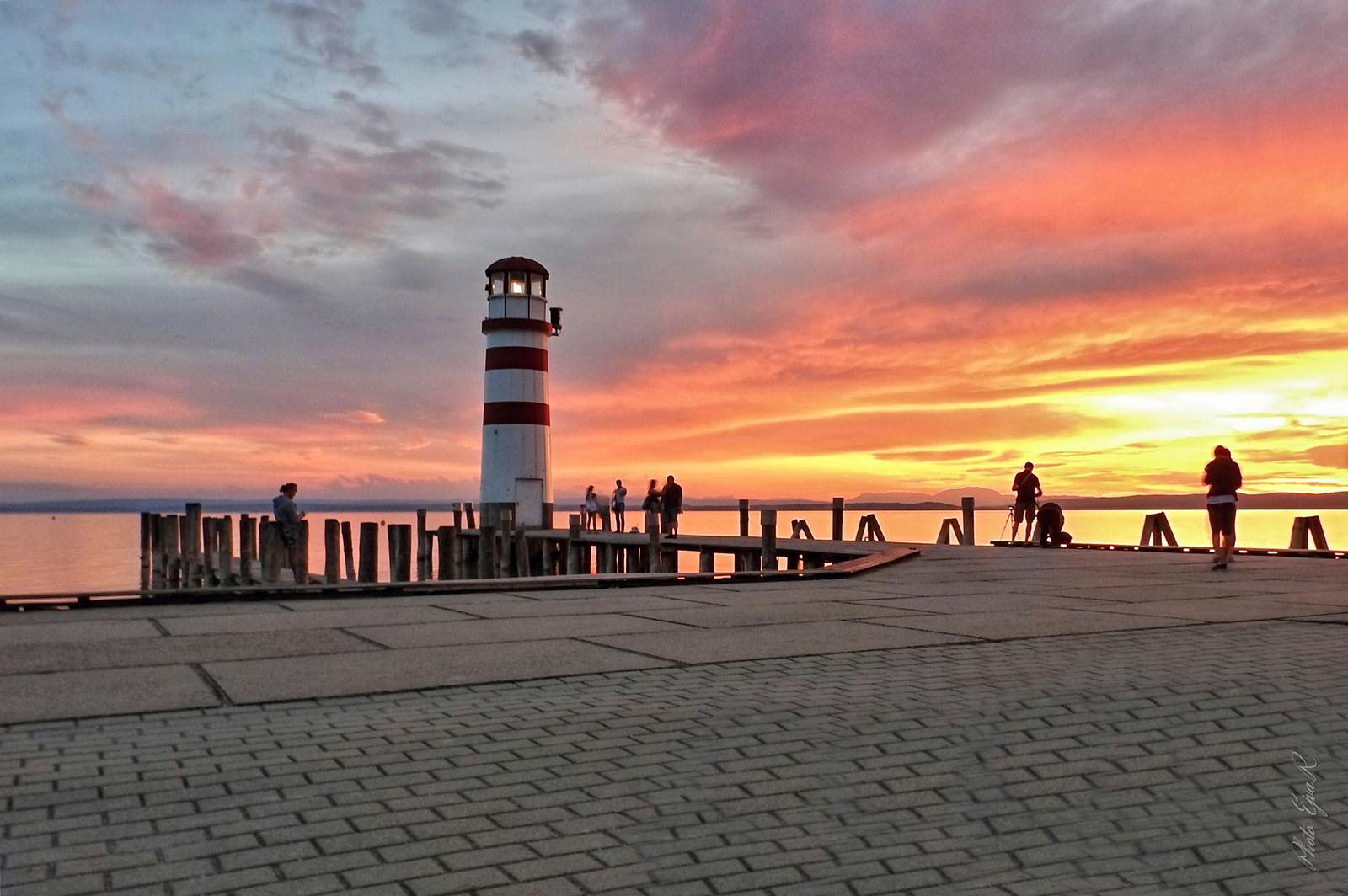Naplemente/ Fertő tó/ Ősz