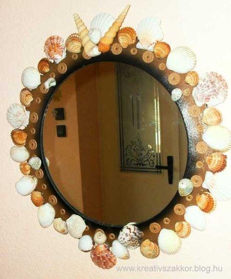 Kagylódekorációk - falitükör