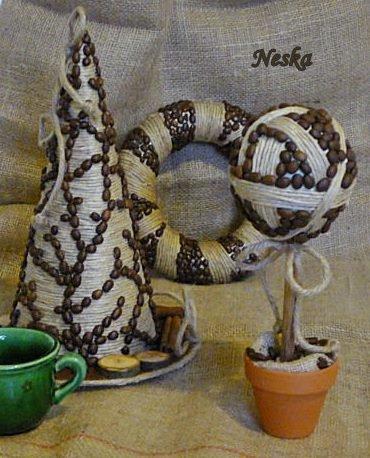 Kávés dekoráció