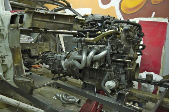 datsun 260Z VQ35 engine install 5